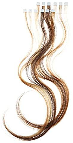 Balmain Color Flash 40 cm Human Hair, Blonde Honey and Walnut, Package 1st (1 x 12 Pieces)