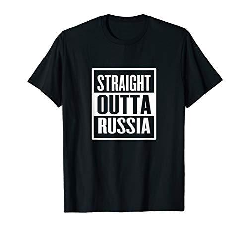 Straight Outta Russia Sowjetischer russischer Humor T-Shirt -