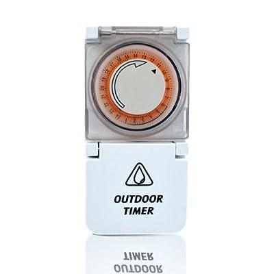 Mechanischer Zeitschaltuhr Timer 3500W IP44 outdoor 24 Stunden von Hergestellt für Realm bei Lampenhans.de