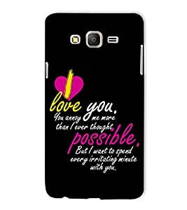 Fuson Designer Back Case Cover for Samsung Galaxy On5 (2015) :: Samsung Galaxy On 5 G500Fy (2015) (I love you more )