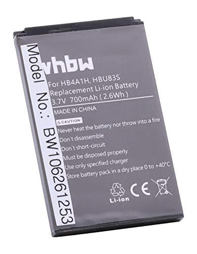 vhbw Li-Ion Akku 700mAh (3.7V) für Handy Smartphone Telefon AT&T GoPhone U2800A, U2800A