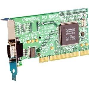 "Brainboxes Limited–Brainboxes 1-Port Universal PCI Serial Adapter–1x 9-polig DB-9männlich Serielle RS-232Universal PCI–10PACK ""Produkt Kategorie: I/O und Speicherung Controller/Seriell/Parallel Adapter"""