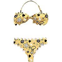 15a25e629990 FRAUIT Bikini Donna Mare Push Up Vita Alta Bikini Bambina Intero Fiori  Estate Madre E Figlia