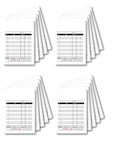 Sigel KC620 Kassenblock mit Additionsblatt 10x16,5cm 5 Stück á 2x50 Blatt