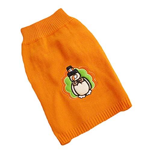 Joyfeel buy Haustier Kleidung Kostüm Weihnachtsbecher Muster Gelb Hund Pullover Sweatshirt Warm Mantel für Winter Weihnachten,Length 38cm,Büste 52cm(L)