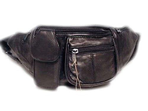 Leder Bauchtasche Hüfttasche schwarz (Tasche Schuhe Gürtel)