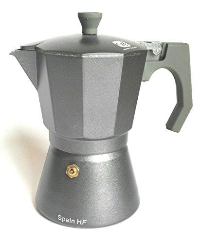 Happy Friends - Cafetera Espresso en Aluminio- Estilo Italiano - 6 Tazas