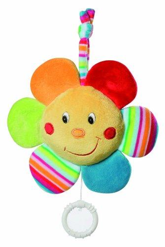 Fehn 152968 Spieluhr Blume / Aufzieh-Spieluhr mit herausnehmbarem Spielwerk zum Aufhängen, Kuscheln und Greifen, für Babys und Kleinkinder ab 0+ Monaten