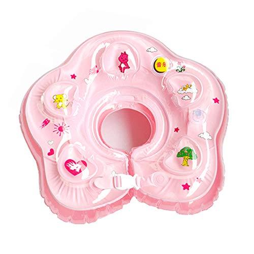 YHYZ Schwimmringe Kinder Aufblasbare dicken Doppelballon Musik Schwimmen Kreis Kragen 0-12 Monate Säuglingsschwimmbad Wasser Spielzeug, Musik Kragen (pink)