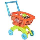 Goolsky 32 Piece Einkaufswagen Pädagogisches Küchen Spielzeug mit Play Food Set Rollenspiele für Kinder Baby Kleinkinder Kids