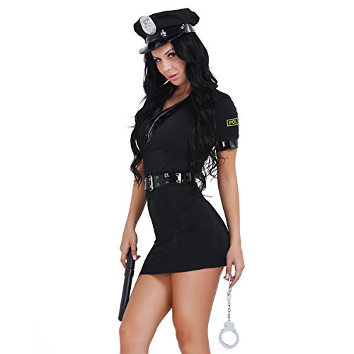 Tiaobug Damen Sexy Polizei Polizistin Uniform Kostüm Uniform -