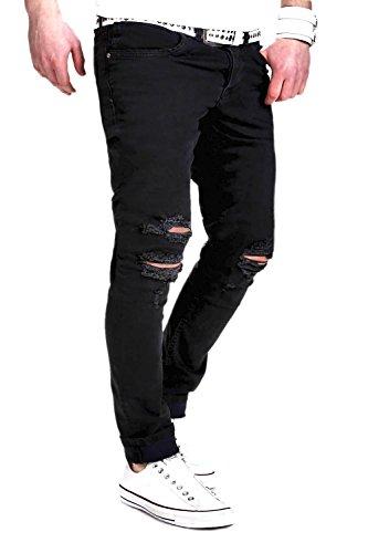 MT Styles Jeans Slim Fit RJ-2007 Schwarz