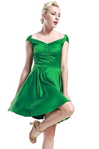 Babeyond Damen 50s 60s Retro Cocktail Kleider V Ausschnitt Damen Motto Party Kostüm Kleid (Größe L/ UK16/ EU44, (Kostüme 1960 Motto)