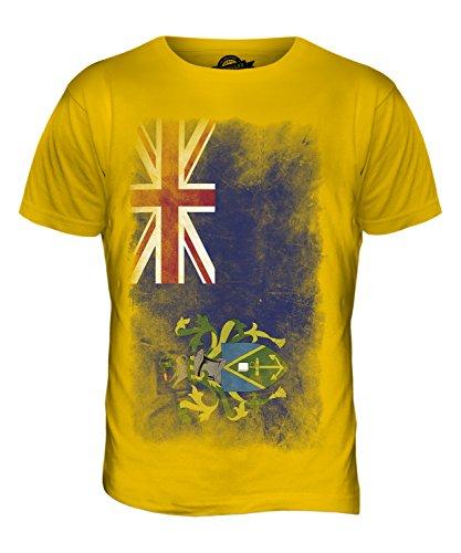 CandyMix Pitcairninseln Verblichen Flagge Herren T Shirt Dunkelgelb