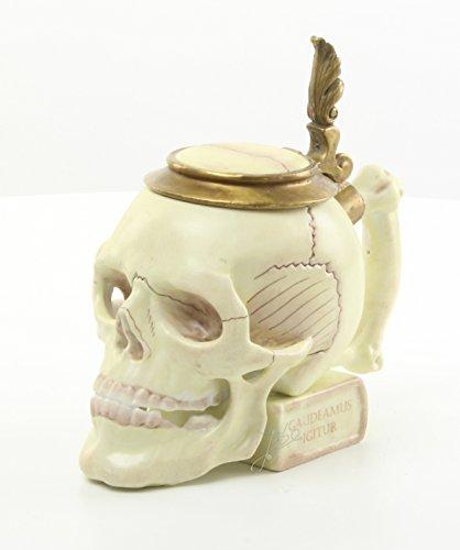 Totenschädel Trinkgefäß Porzellan / Bronze Krug Becher Skelett Knochen ( iuvenes dum sumus , gaudeamus igitur ) Studentenvereinigung Lied ) Burschenschaft