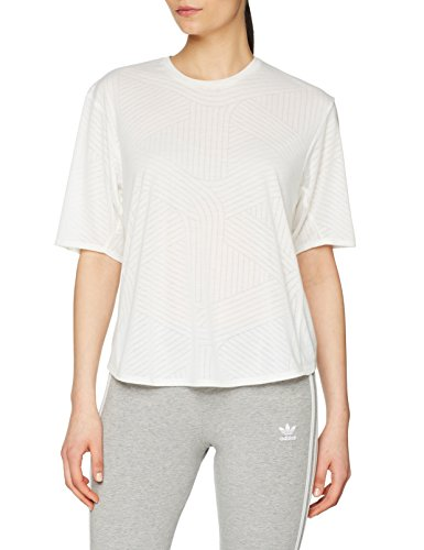 adidas Damen FreeLift Aeroknit T-Shirt, Chalk White, XS -