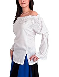 Medieval Clothing - Floaty Wench Blouse Alexandria - White