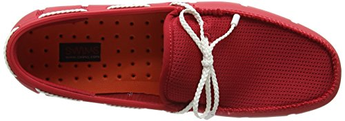 Swims Braided Lace Loafer, Chaussures Bateau Homme Red (Red/White)