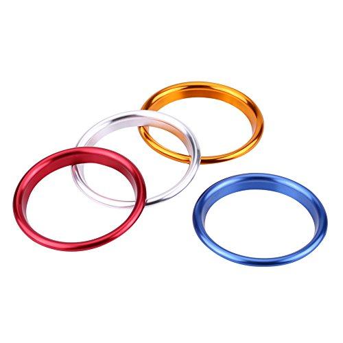 Qiilu 4 Stücke Innen Air Vent Outlet Dekorative Ring Abdeckung Trim für Audi A3 Nach 2014 3 Farben(Gemischt) (Vent Dekorative Abdeckung)