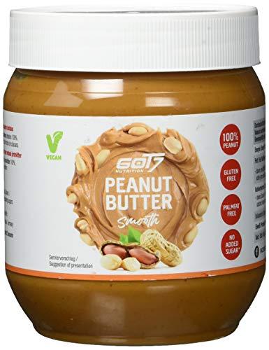 GOT7 Erdnussbutter Smooth / 100% Peanut Butter 500 g - Ohne Zuckerzusatz - Glutenfrei und Palmfettfrei - Kein Zuckerzusatz - Vegan und lecker, weiche Konsistenz