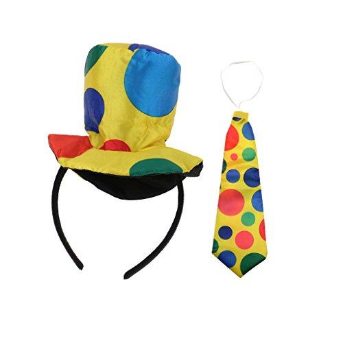 Zirkus Party Kostüm - Gazechimp Bunt Clown Hut Haarreif +