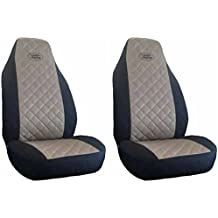 Fundas de asiento negro y beis
