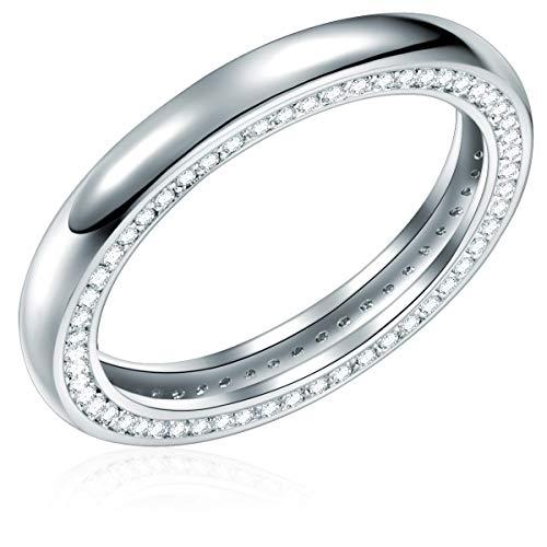 -Ring Sterling Silber Zirkonia weiß - Ring mit Steinen weiss Memoirering ()