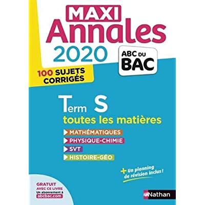 Maxi Annales BAC Tle S