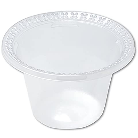 Dixie DD08C Plastic Dessert Dishes, Clear, 8 oz, 100 per