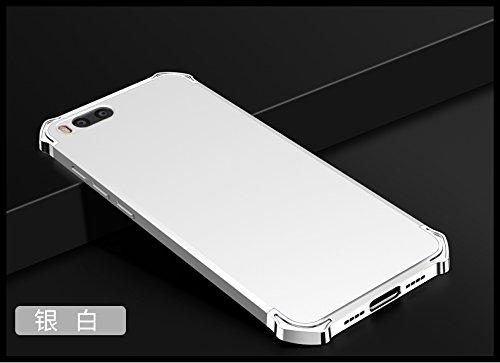 YHUISEN Xiaomi Mi6 Case, Fashion 3 in 1 Heavy Duty High Impact Matte Plating Shockproof Anti-Drop PC Hard Schutzhülle für Xiaomi Mi6 ( Color : Black Gold ) Silver White