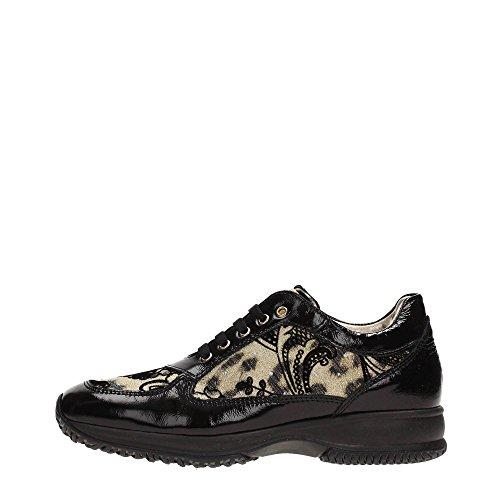 Roberto Cavalli CB40912 Sneakers Donna Tessuto Nero Nero 36