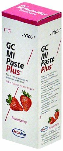 GC MI Paste Plus Erdbeere Zahnschutzcreme mit Fluorid, 1er Pack (1 x 40 g)