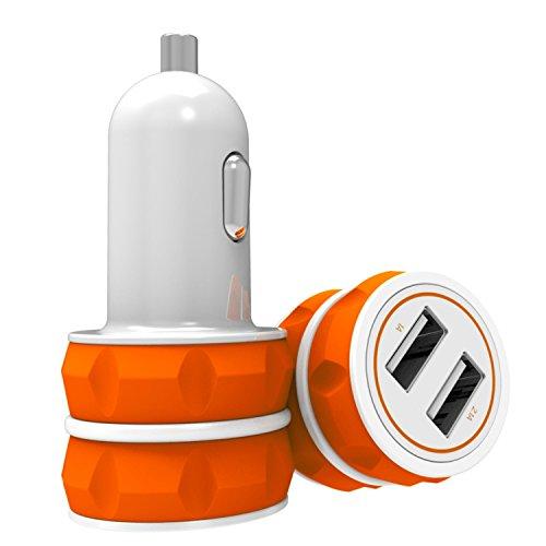 Caricabatterie USB da Auto (3.1A - 2 Porte) con Tecnologia AiPower per iPhone 6s, 6s Plus, SE; iPad, iPod, Samsung, HTC, Motorola, Altoparlante Bluetooth, Batteria Portatile ecc.