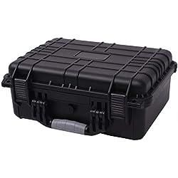 Fesjoy Hard Equipment Maletas para Herramientas Caja Impermeable a Prueba de Agua Duradera 40.6 x 33 x 17.4 cm