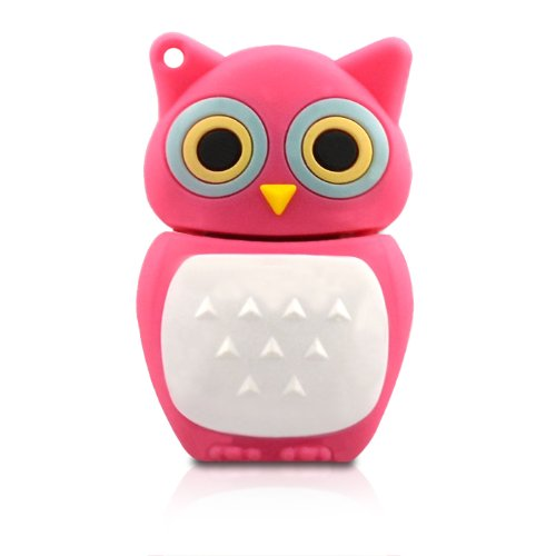 NR16500020016 Hi-SPEED MEMORIA USB PENDRIVE 16GB FLASH AVES BÚHO ROSA DIVERTIDA