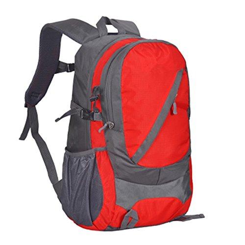 Reise-Outdoor-Enthusiasten Outdoor Wandern Tasche Rucksack Wanderrucksack (30L), grün red