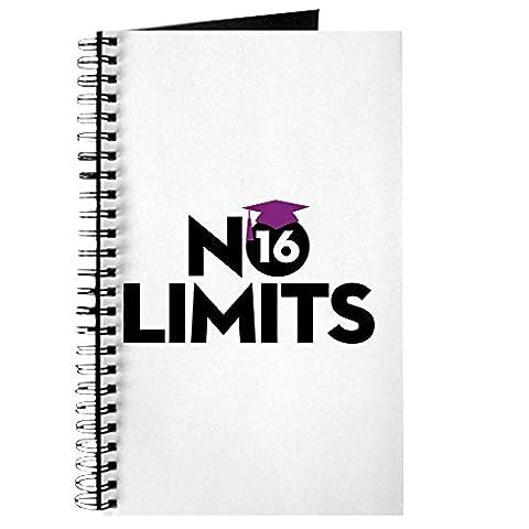 CafePress–No Limits violett–Spiralbindung Journal Notebook, persönliches Tagebuch, Aufgabe