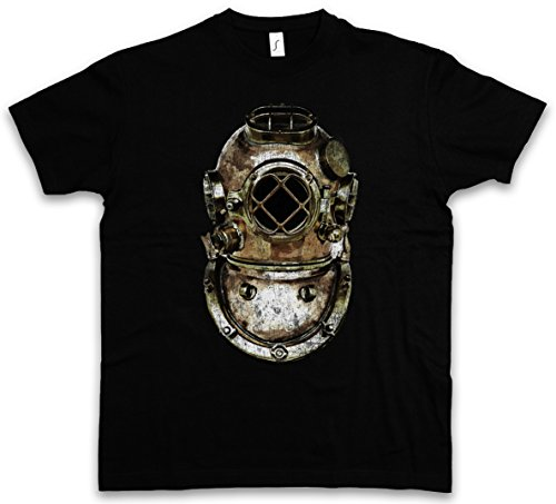 Diver Helmet T-Shirt – Timone Tuffatore Taucher Nautical Tattoo Tauchschule Tauchlehrer Diving School Taglie S – 5XL Nero