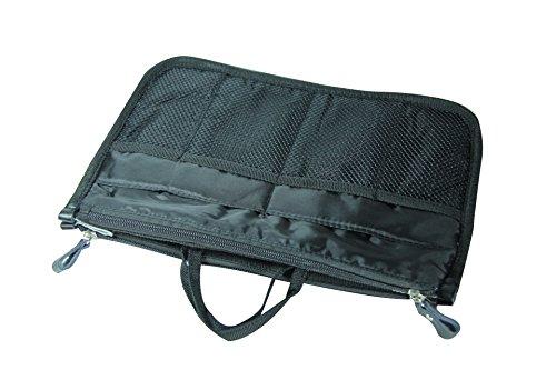 NOV@GO® (version originale qualité assurée) Organiseur/Pochette /sac de rangement intérieur pour grand sac à main ou sac de voyage (divers coloris disponibles) (New Noir)