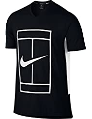T Shirt Nike Baseline Black White Spring 2017