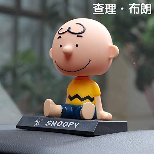 GZXYYY Cartoon agitazione Testa Bambola Decorazione Auto Decorazione Auto Animazione Accessori Auto Simpatici Ornamenti creativi, Charlie Boy