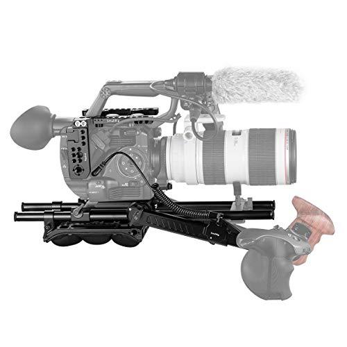 SMALLRIG FS5 Rig Kit, Zubehör Kit mit Deckplatte, Grundplatte, Schulterpolster, Rosettenarm und 15mm Stange für Sony FS5-2007