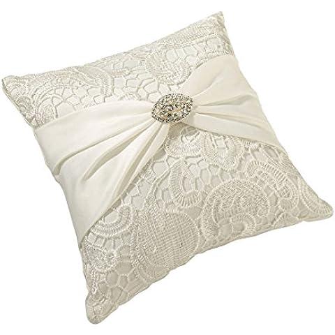 Vintage da sposa in pizzo cerimonia dell'anello del cuscino -