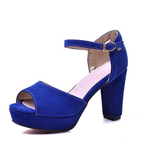Adee Formale rutschfestem Frosted Damen Sandalen Blau