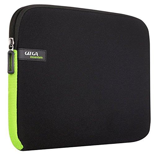 GIZGA 11.6 Zoll Laptoptasche/ Schutzhülle für 11-11.6 Zoll MacBook Air Chromebook Ultrabook Netbook Notebook Schwarz mit Grün