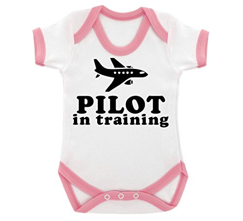 pilot-in-training-design-baby-body-mit-baby-pink-kontrast-trim-schwarz-print-gr-68-weiss-pink