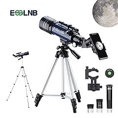 Idea Regalo - ESSLNB Telescopio Astronomico con Treppiede Regolabile e Adattatore Telefonico 70mm Completamente Rivestito Lente 3X Barlow Lente