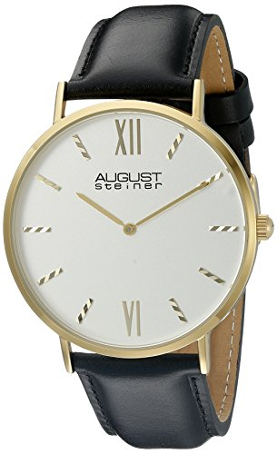 41xbYawD5bL - August Steiner Silver Mens AS8166YG watch