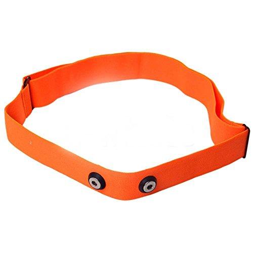Onlyesh Elástica Ajustable Chest Mount Cinturón Correa Bandas para Polar, Garmin, Wahoo Deporte Running Monitor de frecuencia Cardiaca, Color Naranja
