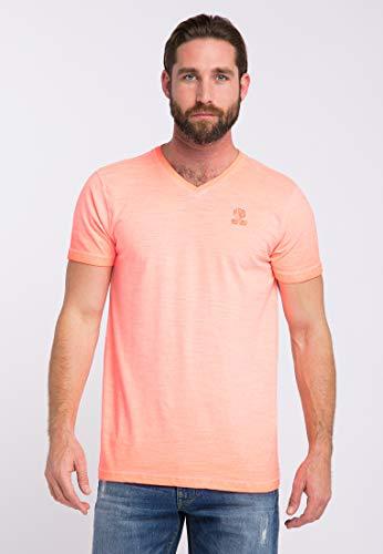 Garment Dye T-shirt (Petrol Industries T-Shirt Herren M-SS19-TSV658 Fiery Coral, L)